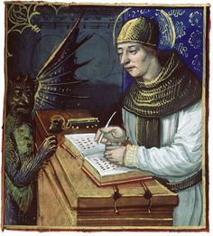"""Titivillus is often referred to with the title of """"The Patron Demon of Scribes"""".   As with all of us, minds can wander from time to time and the monks were no exception. When this happened, errors would be introduced into the text. No one likes to take credit for his own mistakes, and true to human nature the monks invented Titivillus. He was invented somewhat in jest by them, both to take the blame for their mistakes and as a warning to the hapless monk whose mind strayed from the task."""