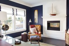 Benjamin Moore Old Navy - a really nice dark navy blue. Very similar to SW Naval, almost identical.