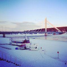 Jätkänkynttilä-bridge Rovaniemi, Finland