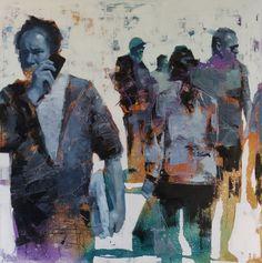 John Wentz Debuts New 'Fractured' Portraits at LA Art Show Abstract Portrait, Portrait Art, Portraits, Portrait Paintings, Painting Abstract, Acrylic Paintings, La Art, Contemporary Paintings, Contemporary Design