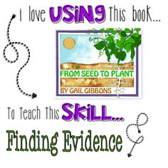 I love kids' books and this one is  wonderful to use when you're teaching your students how to find evidence in the text.