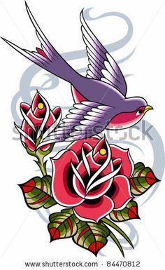 bird with rose flower by paul_june, via ShutterStock