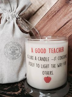 Candle-A Good Teacher-Teacher Gift-Back To School Gifts-Gifts For Teachers- Teacher Appreciation Gift