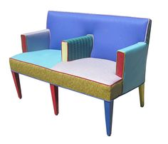 Ettore Sottsass Settee for Memphis Furniture, Circa 1960s | From a unique collection of antique and modern settees at https://www.1stdibs.com/furniture/seating/settees/
