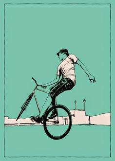 Kai Fine Art is an art website, shows painting and illustration works all over the world. Bicycle Painting, Bicycle Art, Bicycle Sketch, Cycling Art, Cycling Bikes, Bmx, Bike Drawing, Wall Drawing, Bike Illustration