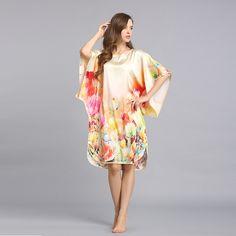 Plus Size Silk Nightgowns Silk Nighties Silk Sleepwear for Women S6011