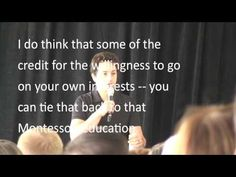 Sergey Brin about his Montessori education