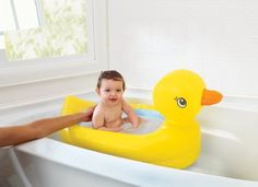OK, this is clearly not for a newborn but this inflatable duck bath is so utterly brilliant it just HAD to make the list. Use this when your baby can sit up until they're ready for the big bath. Fantastic for travelling, saves on water and really fun. Cannot rave enough about how awesome this great little bath is!