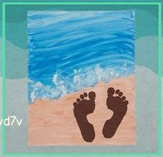 Daycare Crafts, Toddler Crafts, Infant Crafts, Summer Crafts For Kids, Art For Kids, Kids Beach Crafts, Summer Crafts For Preschoolers, Crafts For Babies, Beach Themed Crafts