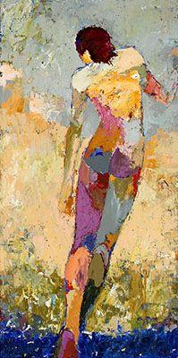 Jylian Gustlin - Caelum: Figures Contemporary Artist - Figurative Painting