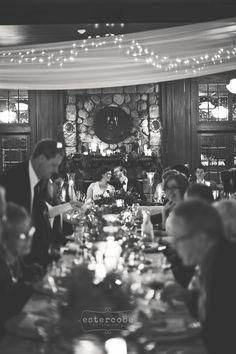 Reception Dinner Photo :: Waldenwoods Winter Wedding