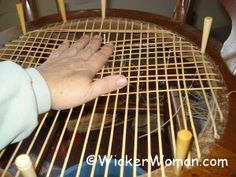 Hand Chair Caning Instructions, How-to Cane Chairs — FREE Directions