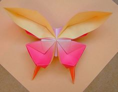 Learn how to make origami butterflies