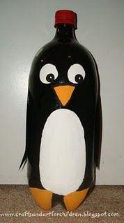 penguin bottle craft