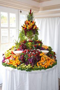 Cascading Fruit Display