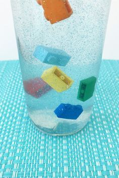 Slow Motion Calm Down Sensory Bottle. A fabulous tool to use with children experiencing big emotions.