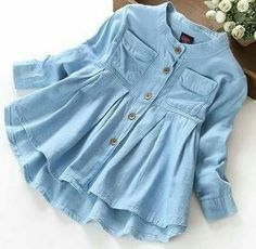 New Spring 2016 Girls blouses&Shirts denim Baby Girl Clothes Casual Soft Fabric Children Clothing Kids girls blouse Shirt Baby Girl Dresses, Baby Dress, Baby Girls, Kids Girls, Girl Toddler, Dress Set, Dress Girl, Infant Toddler, Ruffle Dress