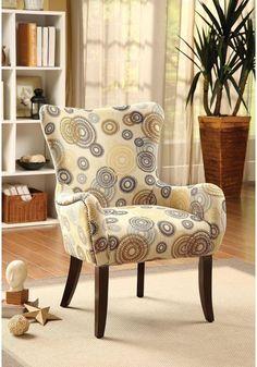 Acme Furniture Sinai Orange Fabric Accent Chair 59445 ACME
