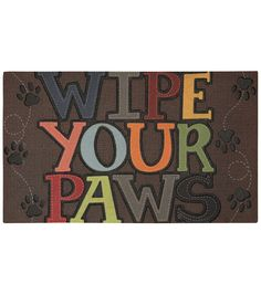 Mohawk Home 18''x30'' Doormat - Wipe Your Paws