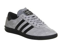 Adidas Hamburg SOLID GREY BLACK EXCLUSIVE Trainers Shoes