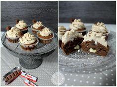 Ein Rezept für saftige Cupcakes mit Kinderschokolade.