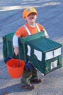 Hs Halloween Costume!! Hes obbbbbbbbsssssssessssseeed with trash trucks!