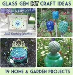 Garden Art and Craft Projects With Glass Gems (flat Marbles)