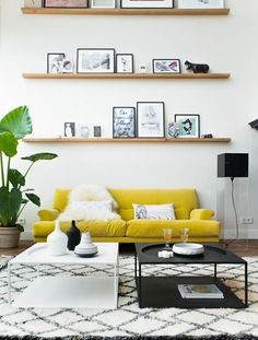 YELLOW in a modern scandi flat