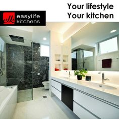 Although Easylife Kitchens George is known for our kitchen design, we also design, manufacture and install bathroom vanity cupboards. Contact us for more details regarding all our services. Beautiful Kitchens, Vanity, House Goals, Built In Cupboards, Bathroom Vanity, Bathroom, Bathrooms Remodel, Bathroom Design, Kitchen Design