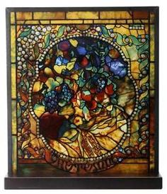 Tiffany Style The Four Seasons  Autumn  Stained Art Glass Window Panel Display | eBay