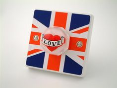 Great British LOVE Bedroom or Kitchen Light Switch by Candy Queen Designs UK