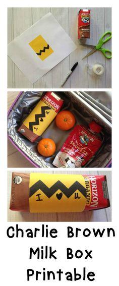 Free Charlie Brown Milk Box Printable - Momma Lew - #HorizonLunch #ad