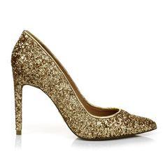 Scarpin Glamour Ouro