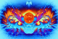 'Escape from the Sun' The Sun is going Nova with the last spaceship leaving Earth
