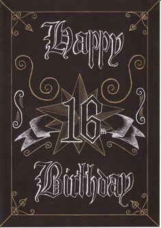 Pix For Happy 16th Birthday Card A Boy