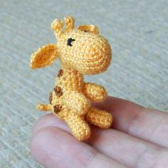 Micro crocheted giraffe by LottasArk on Etsy, £15.00