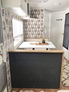 Tour this budget-friendly farmhouse camper! Tour this budget-friendly farmhouse camper that was tran Glamping, Vintage Camper, Vintage Rv, Vintage Motorhome, Vintage Trailers, Camper Renovation, Popup Camper Remodel, Travel Trailer Remodel, Camper Makeover