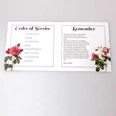 Funeral service sheet inside. Square booklet style by Forever Yours www.foreveryours.co.nz . Also known as order of service sheet, funeral programme, remembrance booklet, service sheet programme. #funeralserviceideas #lastingkeepsake #funeralservicesheet