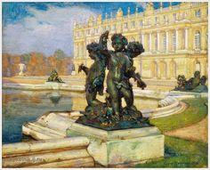 «Versailles» 1916 by Einar Mogens Wegener (Danish, 1882-1931)