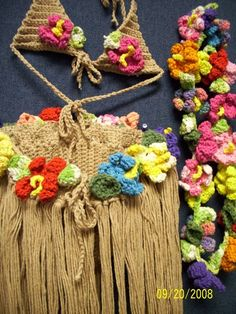 Crochet Hula Girl Outfit - because you never know when you might need this