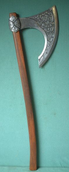 Image detail for -10th century Viking or Norman ceremonial battle axe