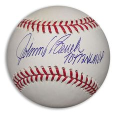 """Johnny Bench Autographed Official MLB Baseball Inscribed """"""""70 + 72 NL MVP"""""""""""