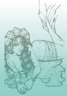 Mermaid by HecateInNightmare.deviantart.com on @DeviantArt