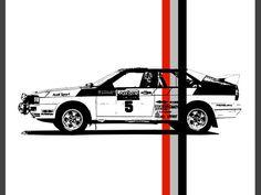 Audi Quattro druckbare Kunst Oldtimer Garage von SimplyDigitalArt