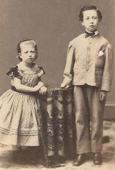 Cdv photo victorian civil war era 2 children girls mourning? dark ...