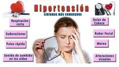 síntomas más comunes de hipertensión