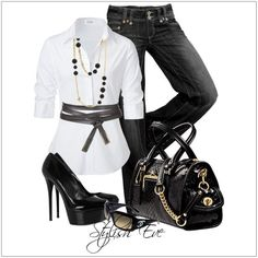 CHATA'S DAILY TIP: The classic colour combination of black and white is always a style winner. Add gorgeous accessories for the element of interest and make this a head-turning outfit. COPY CREDIT: Chata Romano Image Consultant, Riana Meyer http://chataromano.com/consultant/riana-meyer/ IMAGE CREDIT: Stylish Eve