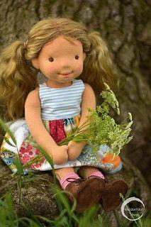 "15"" Natural Fibre Art Doll, OOAK, Laila | by Waldorfdollshop"