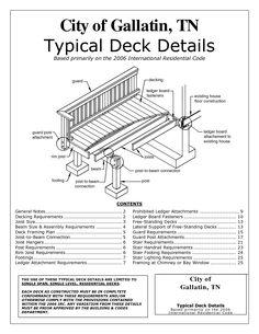 Free Standing Deck Plans | City of Hendersonville_ TN