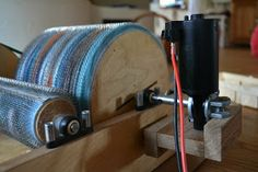 drum carder with electric motor